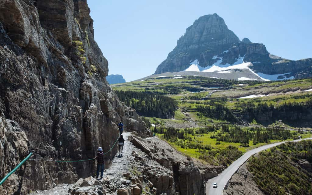 Highline trail on the Continental Divide Trail