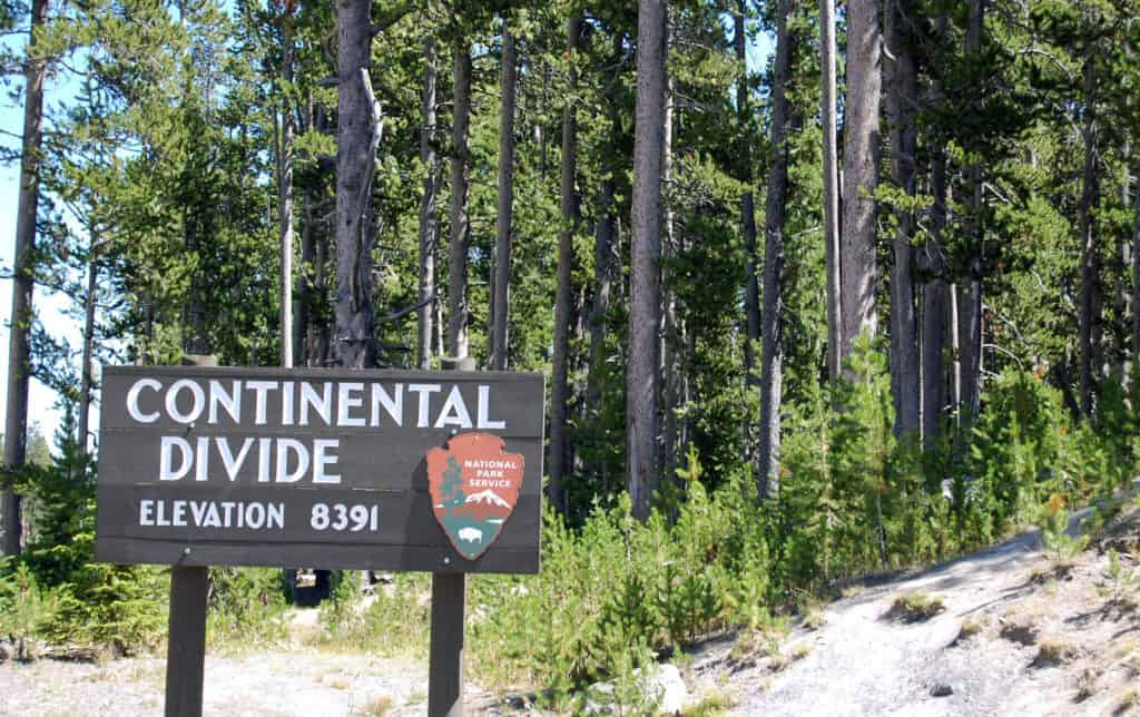 Sign for the Continental Divide