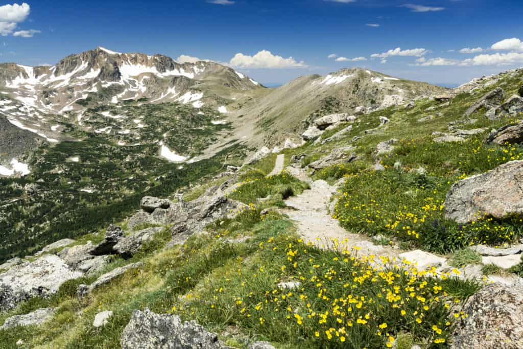 Mountain path on the continental divide